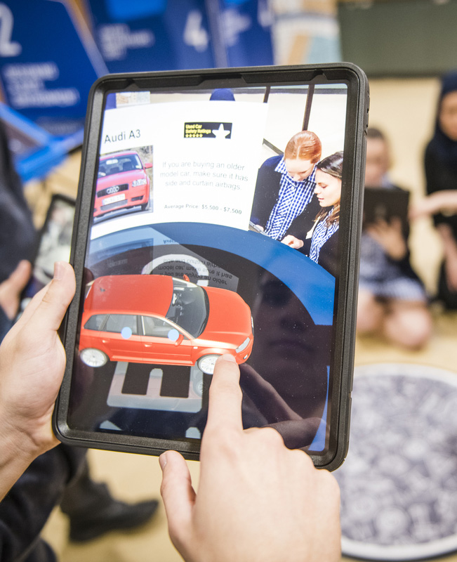 safe car showroom augmented reality